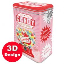 Candy Sweet Shop -  Hinged Embossed Storage Tin
